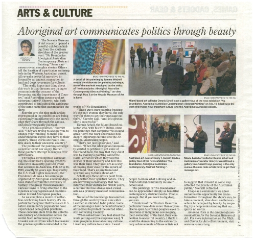 02.22.15 RGJ_Amanda Horn_Aborignal Art Communicates Politics through Beauty