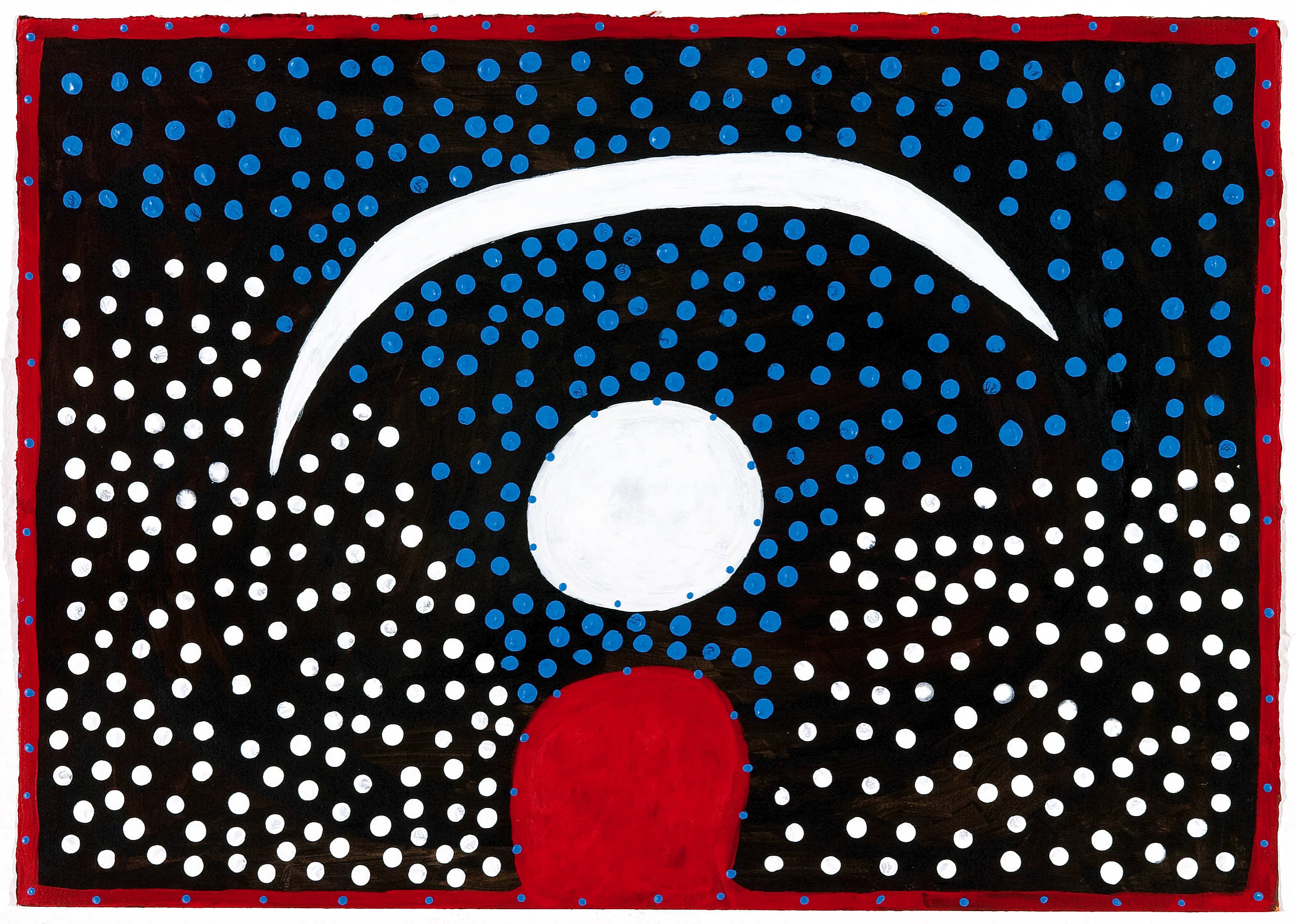 how to draw aboriginal moon