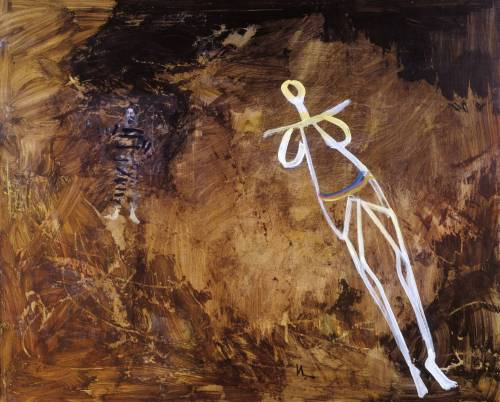 In the Cave 1957 by Sir Sidney Nolan 1917-1992