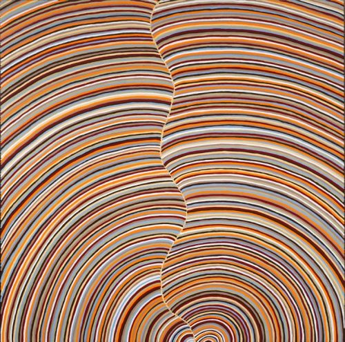 Abie, Loy Kamerre, Bush Hen Dreaming, Sandhill Country, 2004, Synthetic polymer paint on canvas, 71 5/8 x 71 5/8 in, Seattle Art Museum, Promised gift of Margaret Levi and Robert Kaplan.