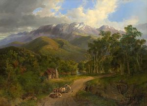 Nicholas Chevalier, The Buffalo Ranges 1864. Oil on canvas, 132 x 183 cm. National Gallery of Victoria, Melbourne.