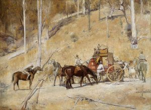 Tom Roberts, Bailed Up 1895. Oil on canvas, 134.5 x 182.8 cm. Art Gallery of New South Wales, Sydney.